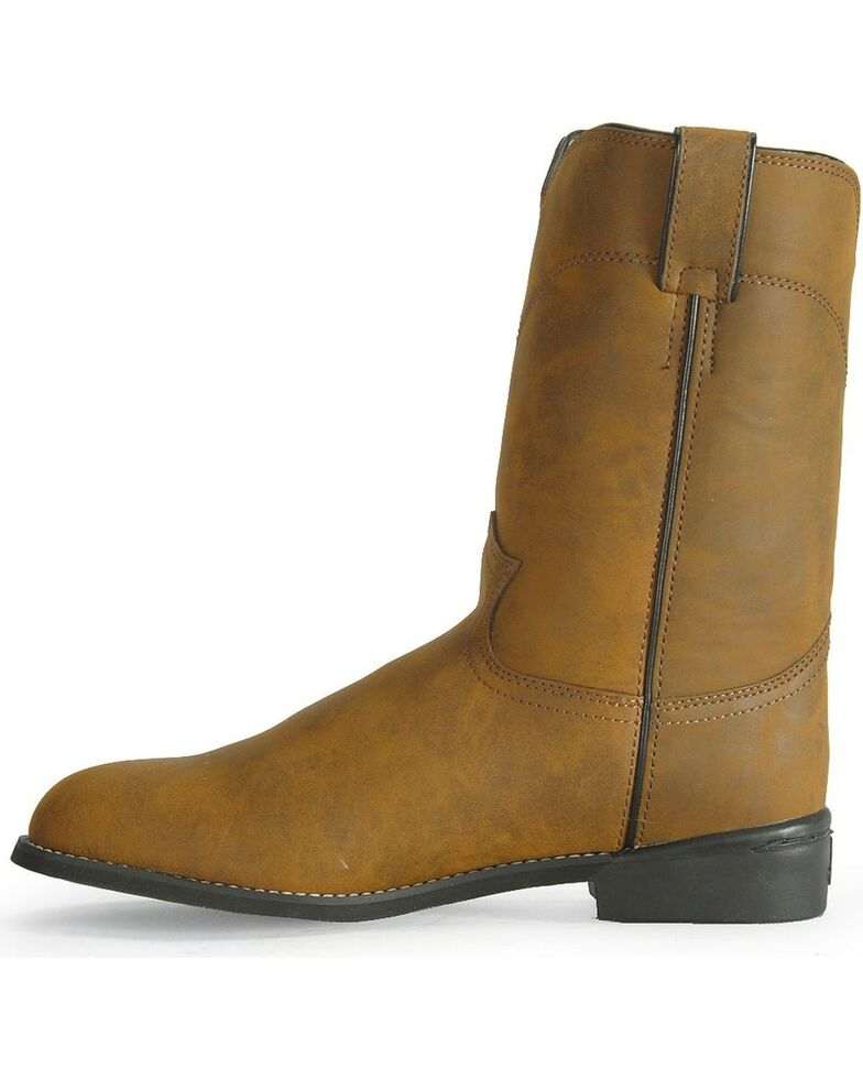 2d84e8868e0 Justin Basics Roper Cowboy Boots - Round Toe