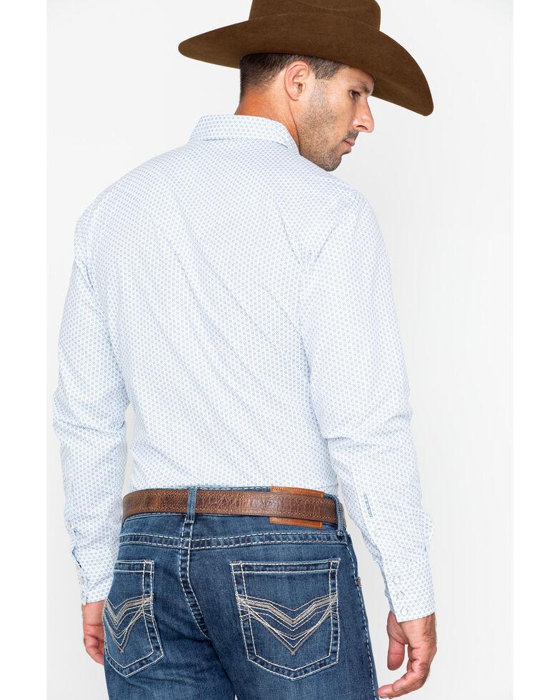 Stetson Men's Original Rugged Geo Print Long Sleeve Western Shirt , Blue, hi-res