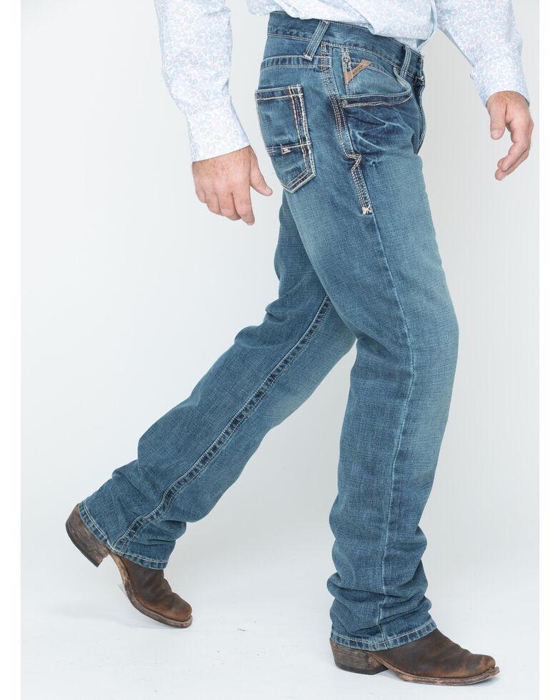 Ariat Denim Jeans - M5 Gulch Straight Leg - Big & Tall, Med Wash, hi-res