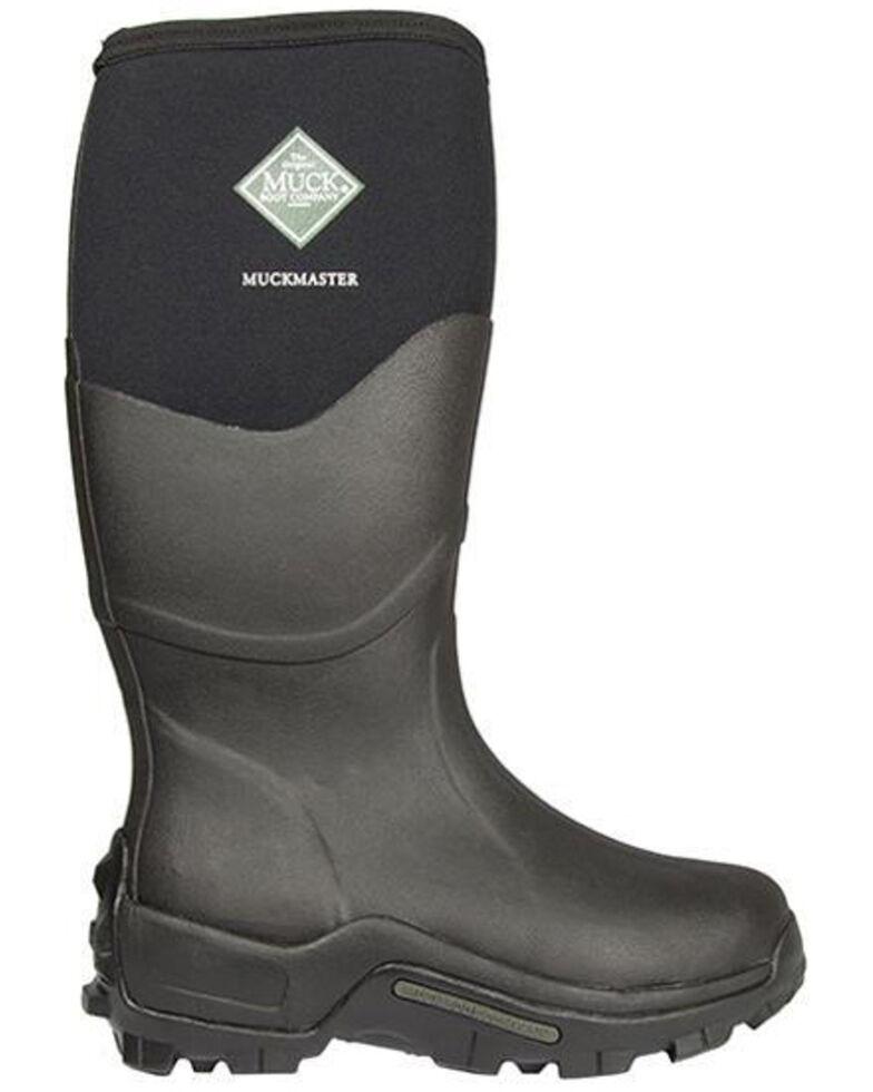 Muck Boots Men's Muckmaster Rubber Boots - Soft Toe, Black, hi-res