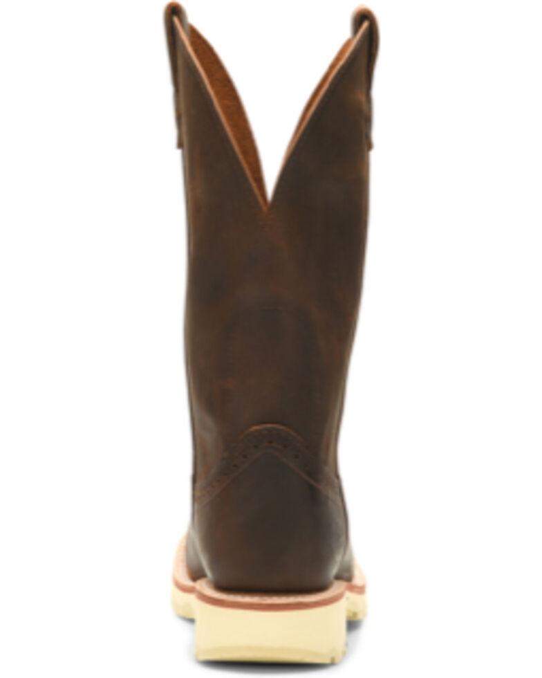 Double H Men's Wooten Western Boots - Wide Square Toe, Distressed Brown, hi-res