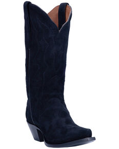 Dan Post Women's Lana Western Boots - Snip Toe, Black, hi-res