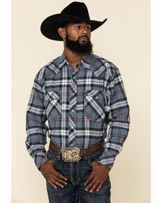 Resistol Men's Multi Plaid Long Sleeve Western Shirt , Multi, hi-res
