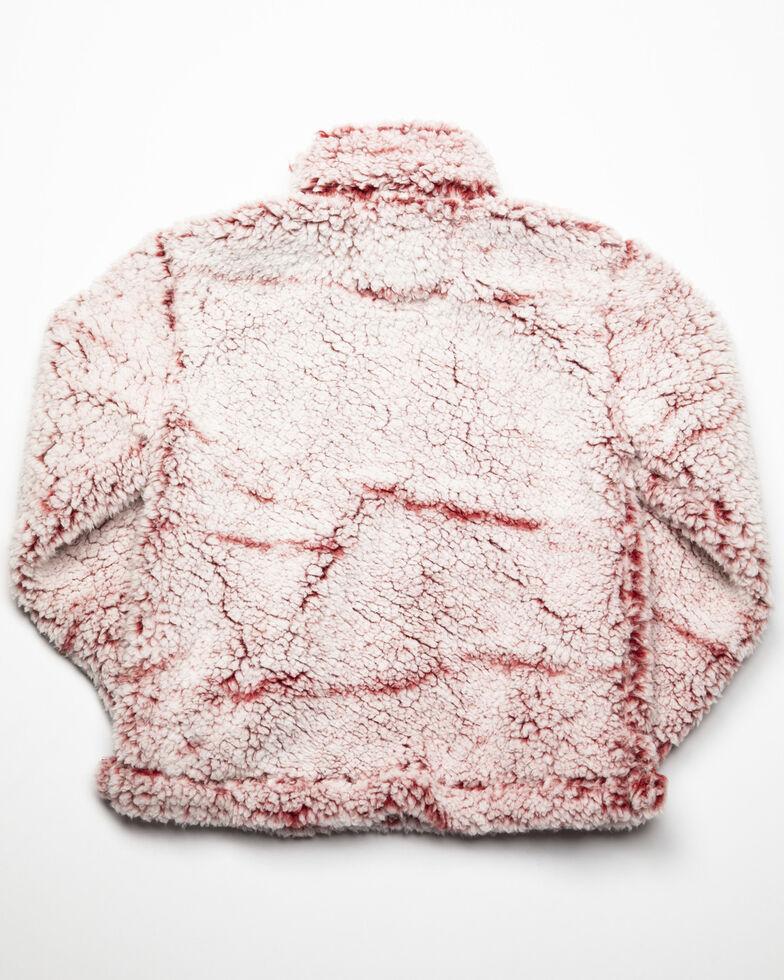 Roper Girls' Fuzzy Fleece Sweatshirt , Wine, hi-res