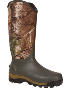 Rocky Men's Core Waterproof Neoprene Outdoor Boots, Brown, hi-res