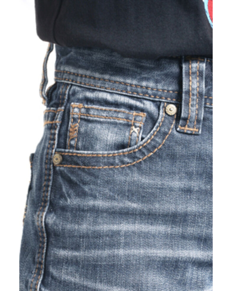 Rock & Roll Cowboy Boys' Large V Reflex Bootcut Jeans , Blue, hi-res