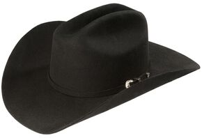 Justin Rodeo 3X Wool Felt Cowboy Hat, Black, hi-res