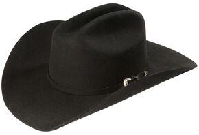 Justin Rodeo 3X Wool Felt Cowboy Hat, Black, hi-res
