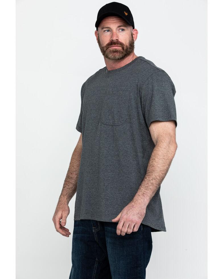 Hawx® Men's Pocket Crew Short Sleeve Work T-Shirt , Charcoal, hi-res