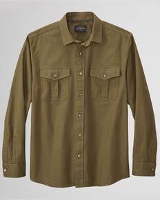 Pendleton Men's Solid Dark Olive Rogue Long Sleeve Button-Down Western Shirt , Olive, hi-res