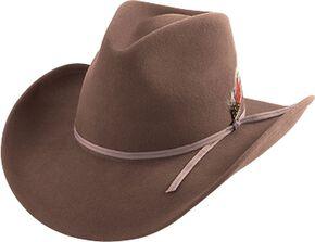 Henschel Crushable Wool Felt Cowboy Hat, Pecan, hi-res