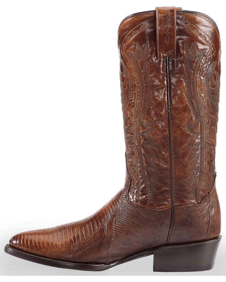 Dan Post Men's Teju Lizard Western Boots - Medium Toe, Tan, hi-res