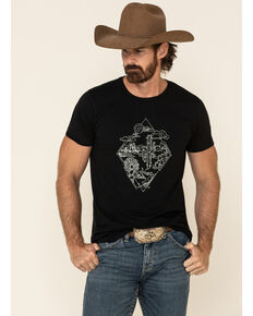 Cody James Men's Desert Diamond Graphic Short Sleeve T-Shirt , Black, hi-res
