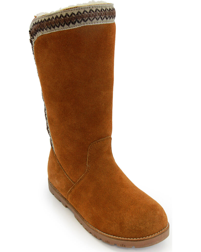 Lamo Footwear Women's Madelyn Suede Winter Boots - Round Toe, Chestnut, hi-res