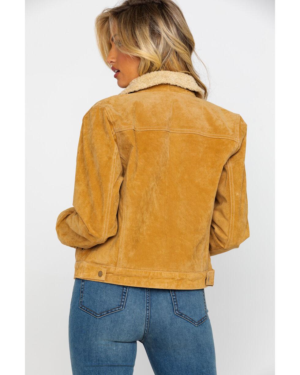 Scully Women's Faux Shearling Jean Jacket, Rust Copper, hi-res