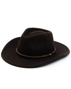 Cody James Men's Brown Wool Felt Western Hat , Brown, hi-res
