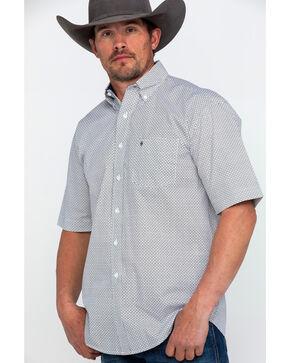 Stetson Men's Navy Small Floral Geo Print Short Sleeve Western Shirt , Navy, hi-res