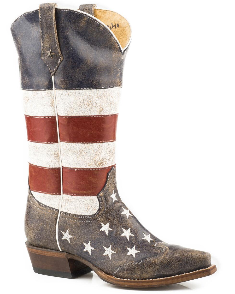 Roper Women's Americana Wonder Cowgirl Boots - Snip Toe, Blue, hi-res