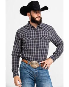 Cody James Men's Flying Squirrel Plaid Long Sleeve Western Flannel Shirt - Tall  , Grey, hi-res