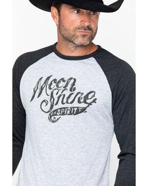 Moonshine Spirit Men's Distressed Logo Baseball Tee - 2XL, Black, hi-res