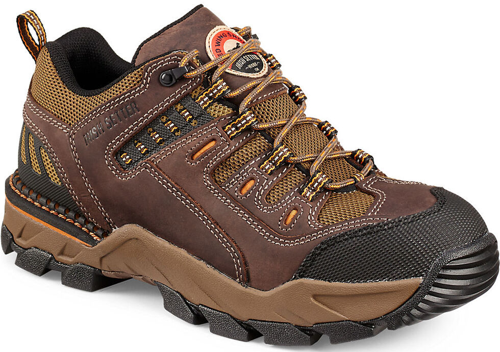 Irish Setter by Red Wing Shoes Men's Two Harbors Hiker Abrasion-Resistant Work Oxfords - Soft Toe , Brown, hi-res