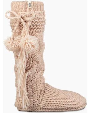 UGG Women's Cream Cozy Slipper Socks , Cream, hi-res