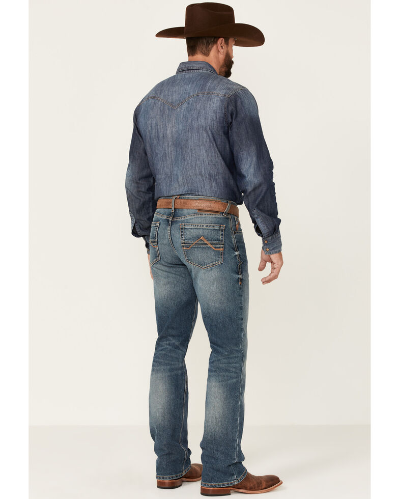 Ariat Men's M4 Campbell 2X Medium Wash Performance Relaxed Bootcut Jeans , Blue, hi-res
