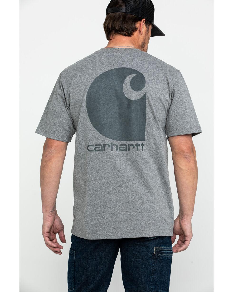 Carhartt Men's C-Logo Graphic Pocket Work T-Shirt - Big , Charcoal, hi-res