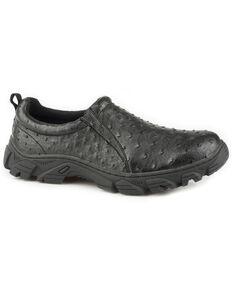Roper Men's Tan Cotter Ostrich Print Casual Shoes - Round Toe, Black, hi-res