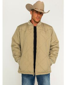 Cody James Men's Quilted Insulation Jacket, Khaki, hi-res