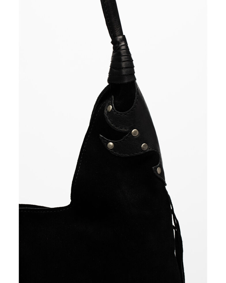 Idyllwind Women's Can't Go Without It Fringe Hobo Bag, Black, hi-res