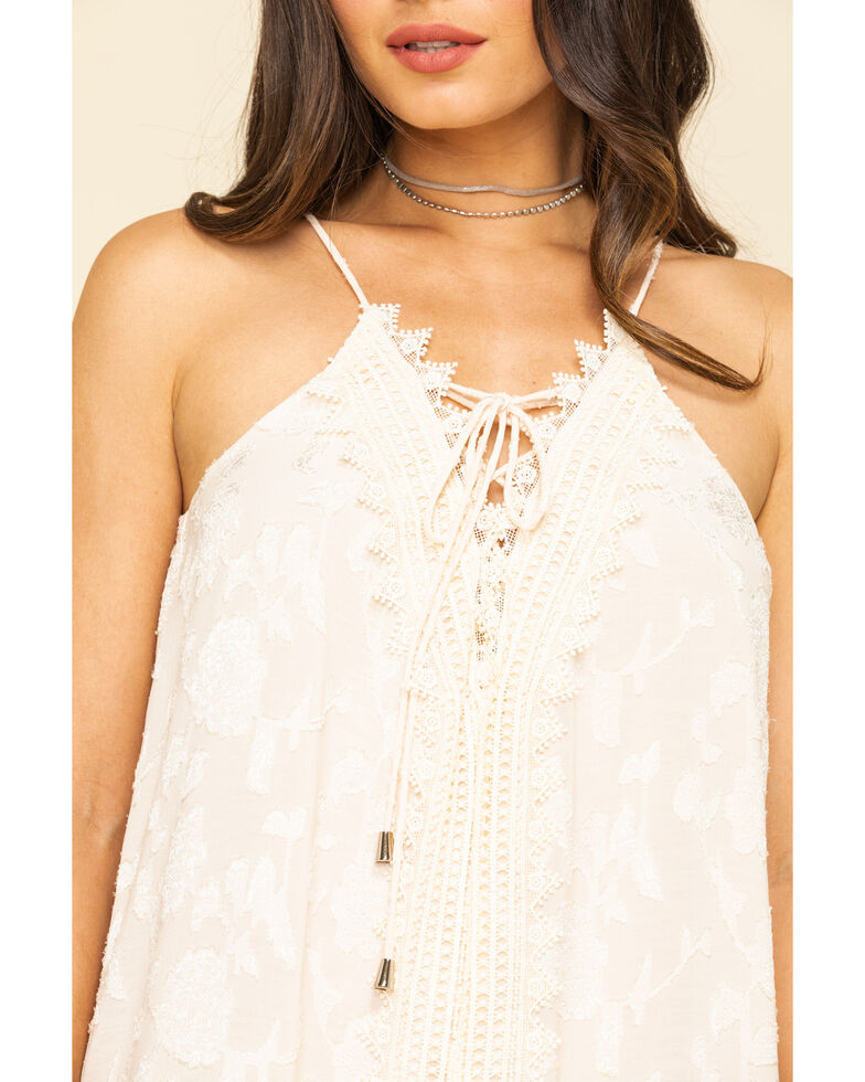 Miss Me Women's Champagne Reversible Lace Cami Top , Sand, hi-res