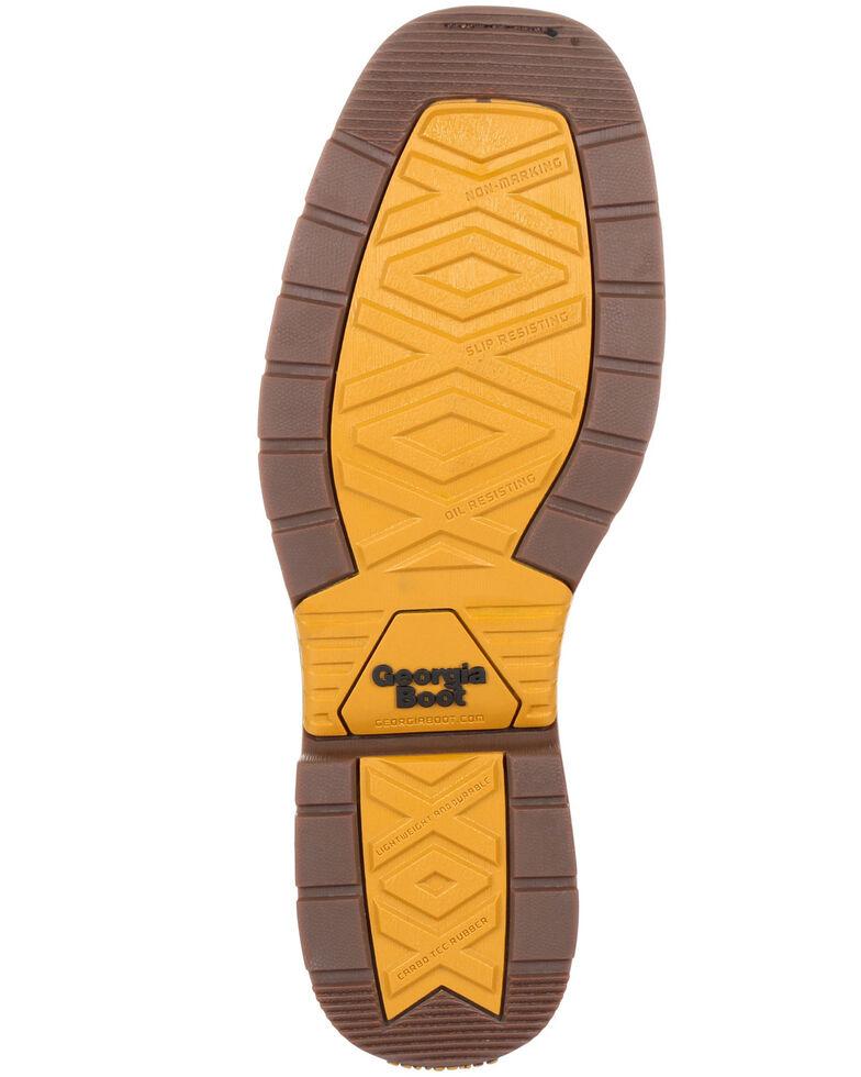 Georgia Boot Men's Carbo-Tec LT Waterproof Western Work Boots - Soft Toe, Black/brown, hi-res
