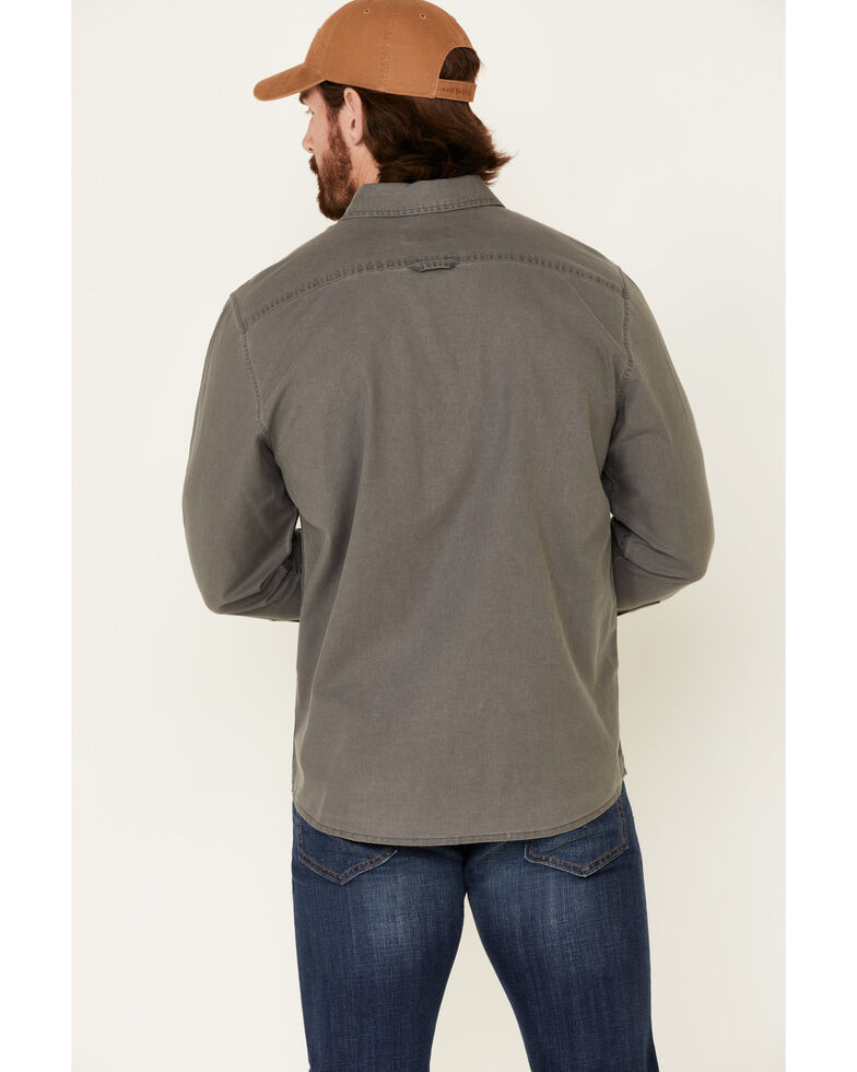 Pendleton Men's Charcoal Beach Shack Solid Long Sleeve Western Shirt , Charcoal, hi-res