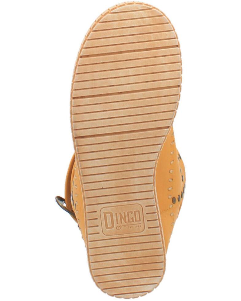 Dingo Women's Malibu Western Boots - Round Toe, Yellow, hi-res