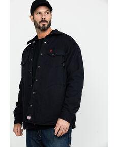 Ariat Men's FR Rig Work Shirt Jacket , Black, hi-res