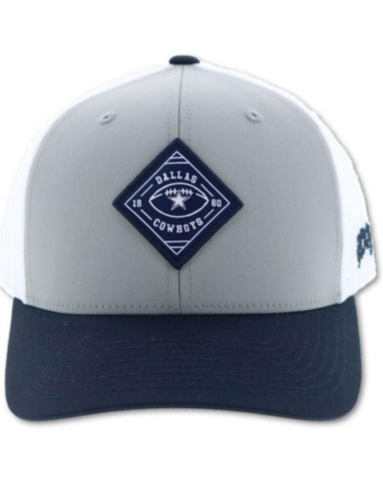 HOOey Men's Dallas Diamond Logo Patch Mesh Cap , Grey, hi-res