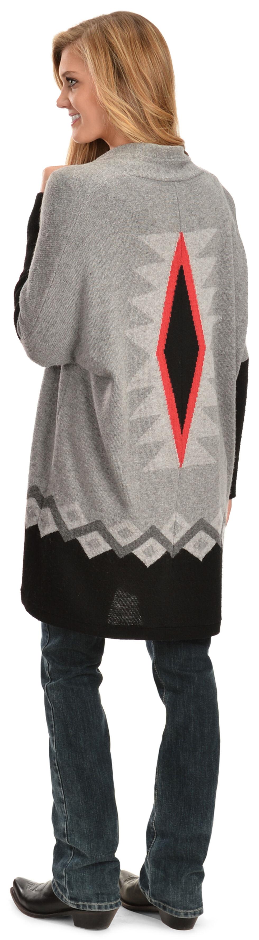 White Crow Navaja Cardigan, Grey, hi-res
