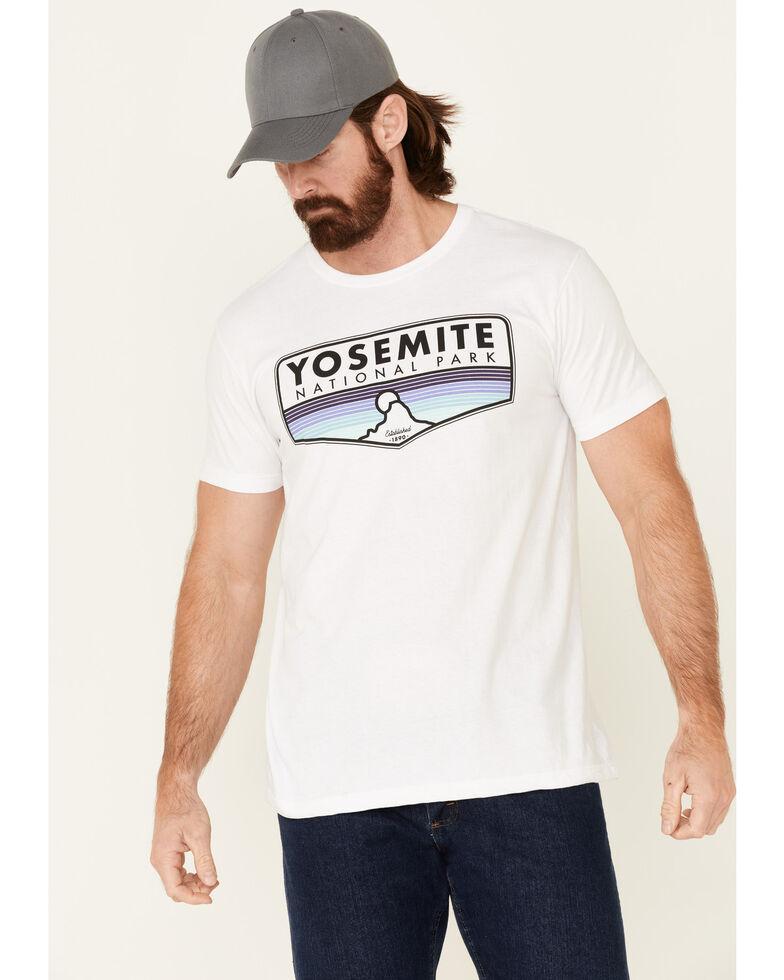 National Park Foundation Men's White Yosemite Park Graphic Short Sleeve T-Shirt , White, hi-res