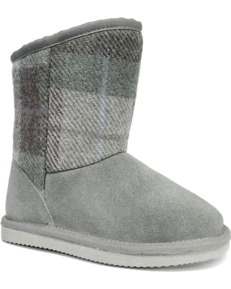 Lamo Footwear Girls' Wembley Boots - Round Toe , Grey, hi-res