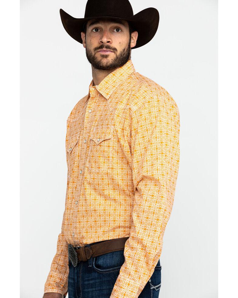 Wrangler 20X Men's Advanced Comfort Multi Floral Print Long Sleeve Western Shirt , Orange, hi-res