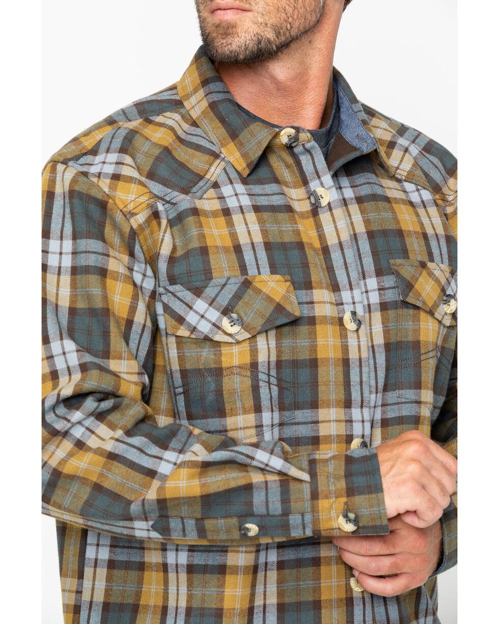 Cody James Men's Songdog Bonded Flannel Long Sleeve Western Shirt Jacket, Gold, hi-res
