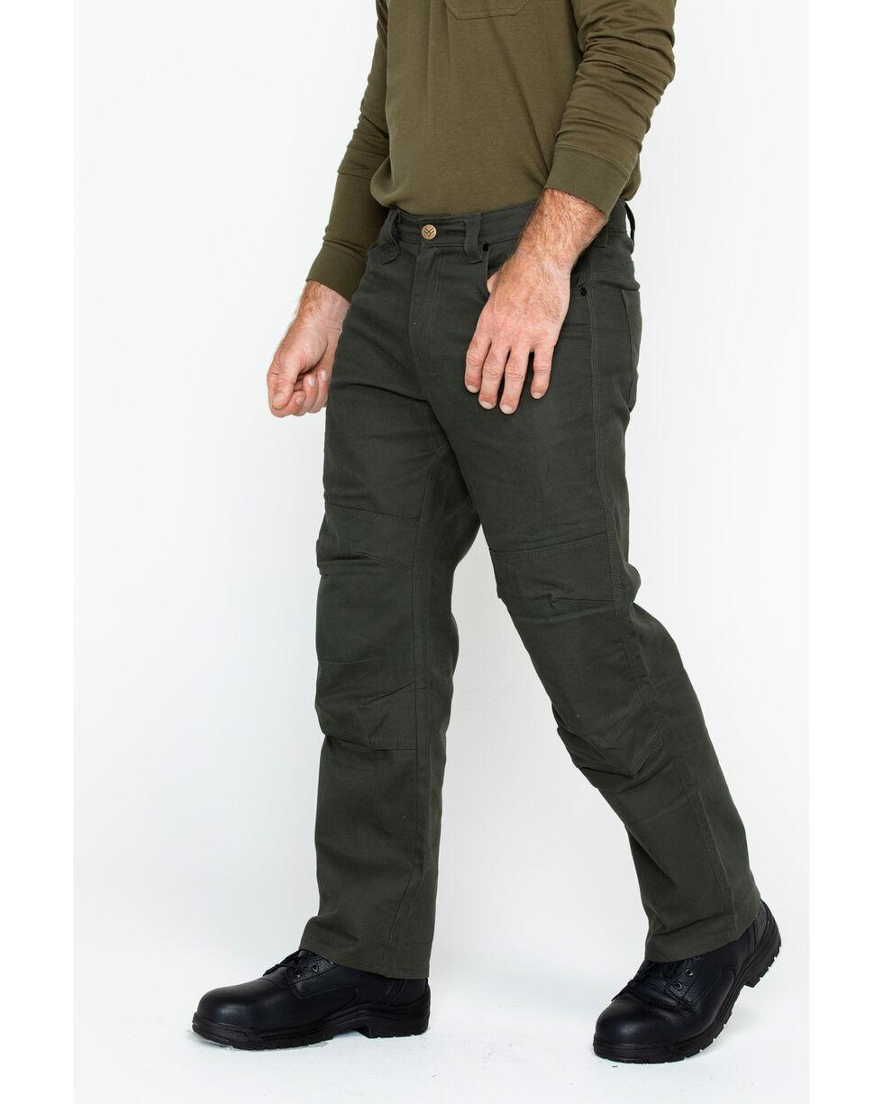 Hawx® Men's Stretch Canvas Utility Work Pants , Moss Green, hi-res