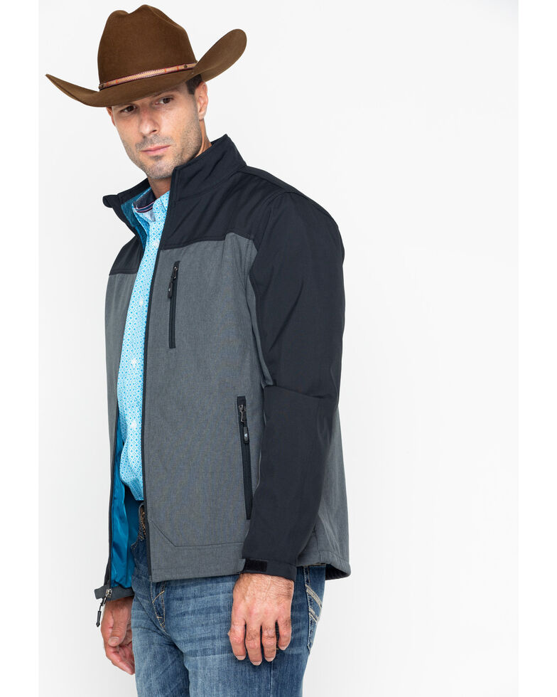 Cody James Core Men's Poly Zip-Up Steamboat Soft Shell Jacket , Black, hi-res
