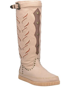 Dingo Women's Mohawk Western Boots - Moc Toe, Natural, hi-res
