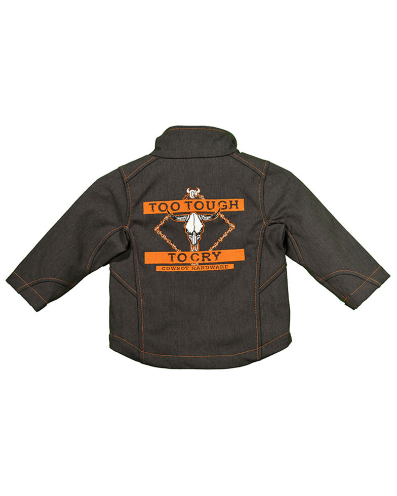 Cowboy Hardware Toddler Boys' Too Tough To Cry Poly Shell Jacket , Brown, hi-res
