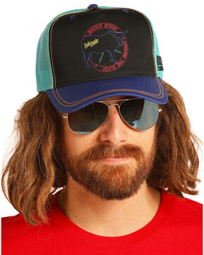 Dale Brisby Men's  Buckin' Stock Mesh Cap, Turquoise, hi-res