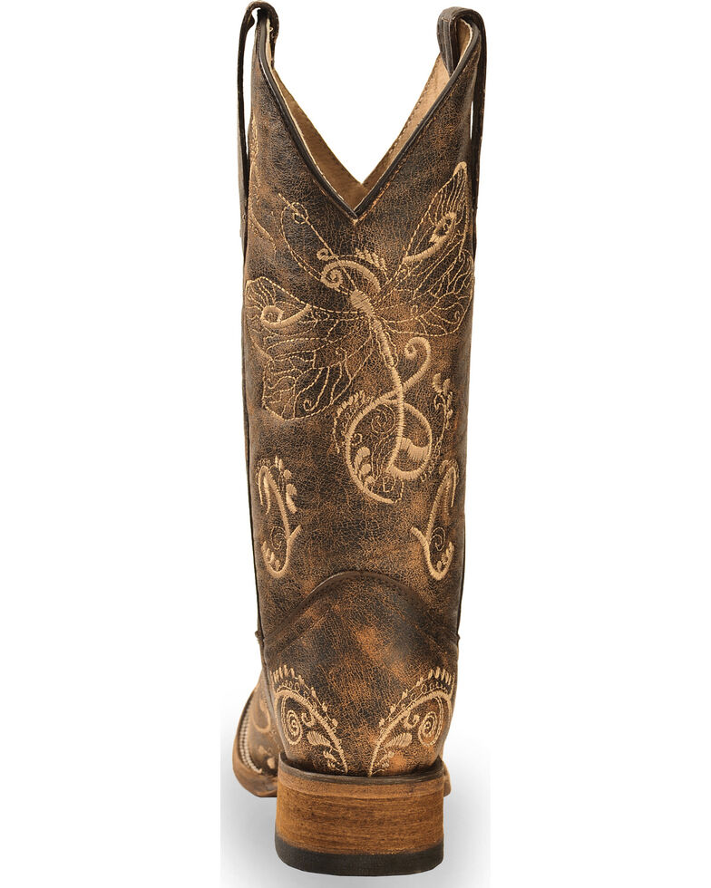 d9071aa0061 Circle G Dragonfly Embroidered Cowgirl Boots - Square Toe