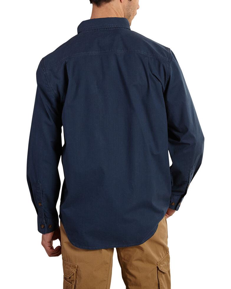 Carhartt Men's Foreman Long Sleeve Work Shirt, Navy, hi-res