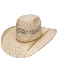Double R By Resistol Men's Natural 7X Dove Valley Straw Western Hat , Natural, hi-res